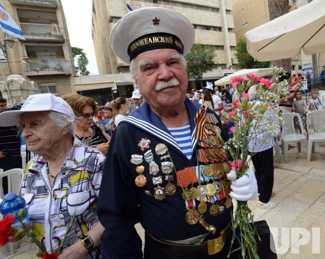 Soviet Veterans Observe Victory Day, Jerusalem