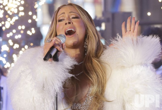 Mariah Carey performs on New Year's Eve in Times Square