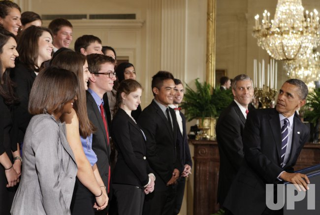 President Barack Obama delivers remarks on student loans in Washington