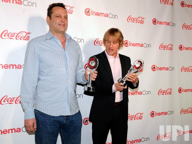 Vince Vaughn and Owen Wilson arrive at the 2013 CinemaCon Awards Ceremony in Las Vegas