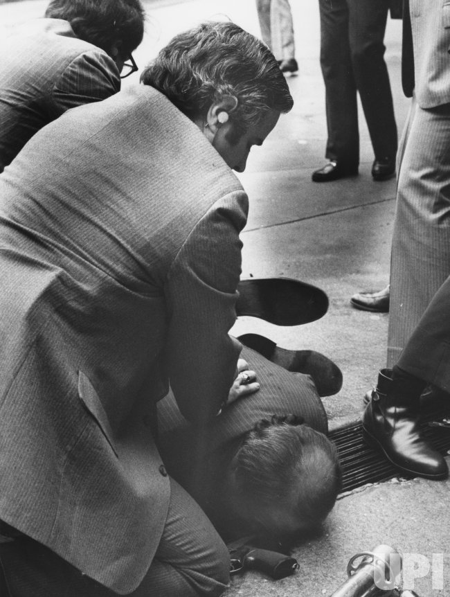 Presidential Press Secretary James Brady wounded in assassination attempt on President Ronald Reagan