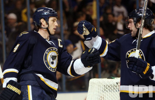 St. Louis Blues David Backes and Eric Brewer