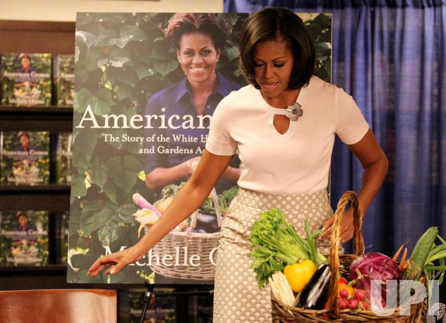 Michelle Obama signs copies of her book in Washington