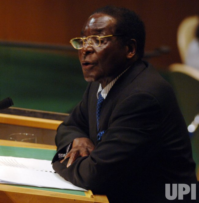 PRESIDENT ROBERT MUGABE OF ZIMBABWE SPEAKS AT THE UNITED NATIONS IN NEW YORK