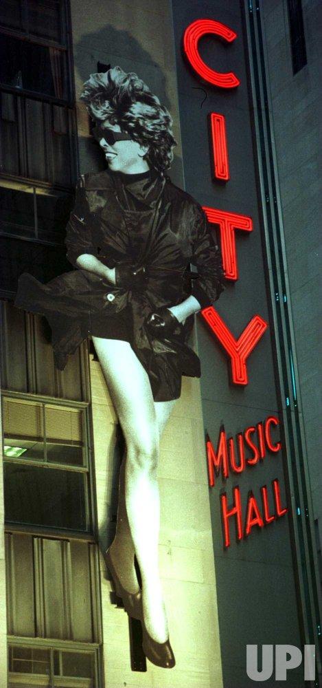 tina turner image dwarfs radio city music hall marquee