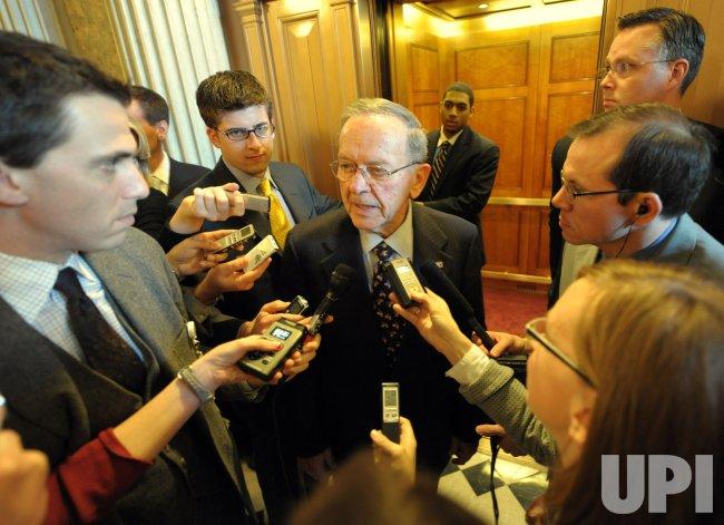 Stevens departs Senate in Washington