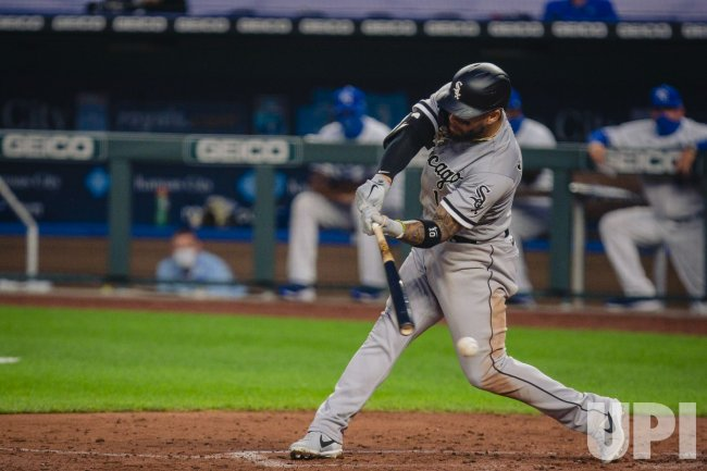 White Sox Yoan Moncada Swings at a Pitch