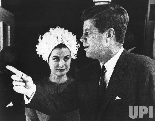 Princess Grace with John F. Kennedy