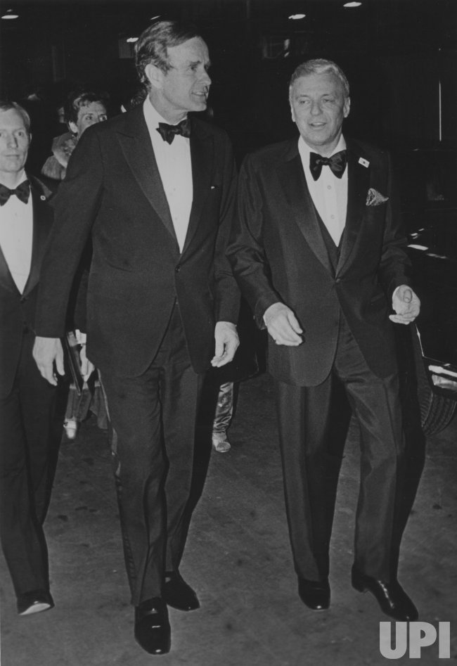 Frank Sinatra Escorts George Bush at Inaugural Gala