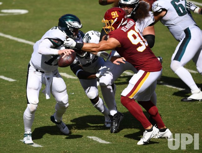 Philadelphia Eagles vs the Washington Football Team in Maryland