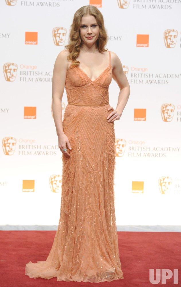 "Amy Adams attends press room at ""BAFTA"" ceremony in London"