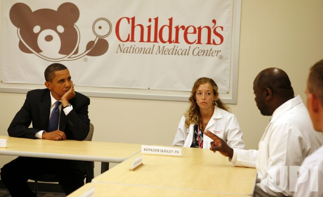 President Obama speaks on healthcare at the Children's National Medical Center in Washington