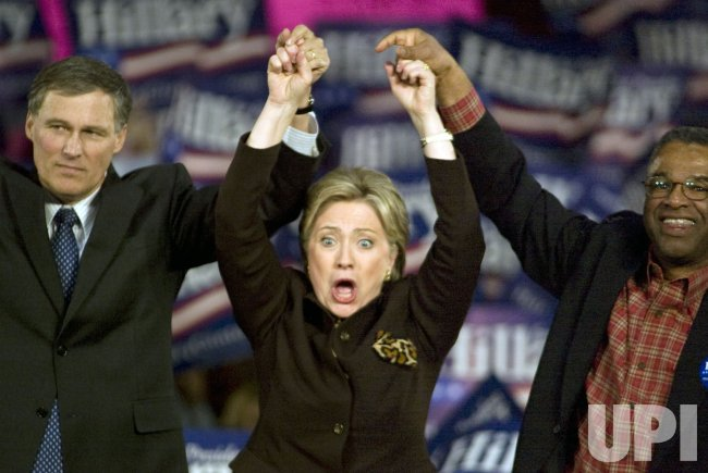 Sen. Hillary Clinton campaigns in Seattle
