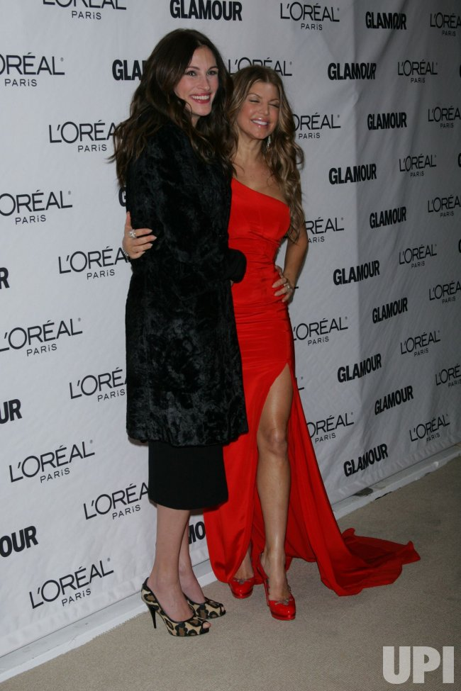 Julia Roberts and Fergie arrive for Glamour Magazine's 20th Annual Women of the Year Awards in New York