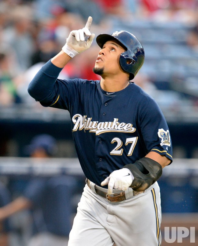 The Atlanta Braves play the Milwaukee Brewers