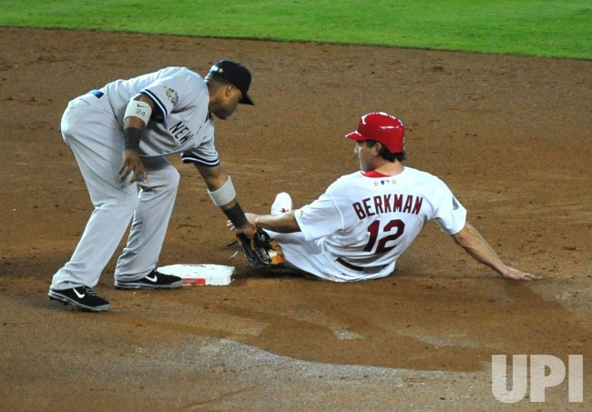 Robinson Cano tags out Lance Berkman during the 2011 All-Star game in Phoenix