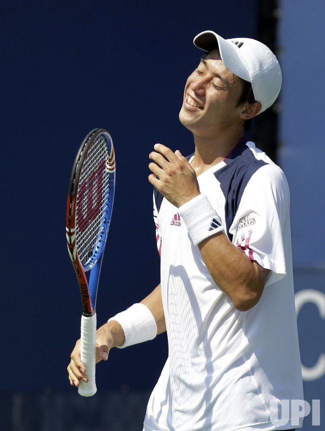 Kei Nishikori of Japan at the U.S. Open Tennis Championships in New York
