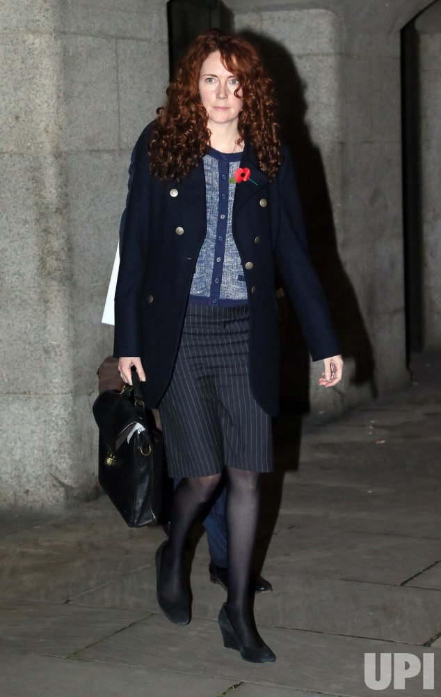 Rebekah Brooks and husband Charlie Brooks leave the Old Bailey Criminal Court.