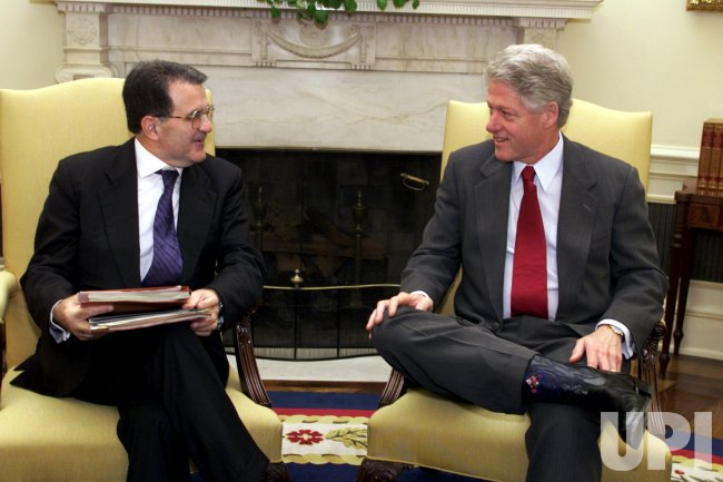 President Clinton meets with Romano Prodi
