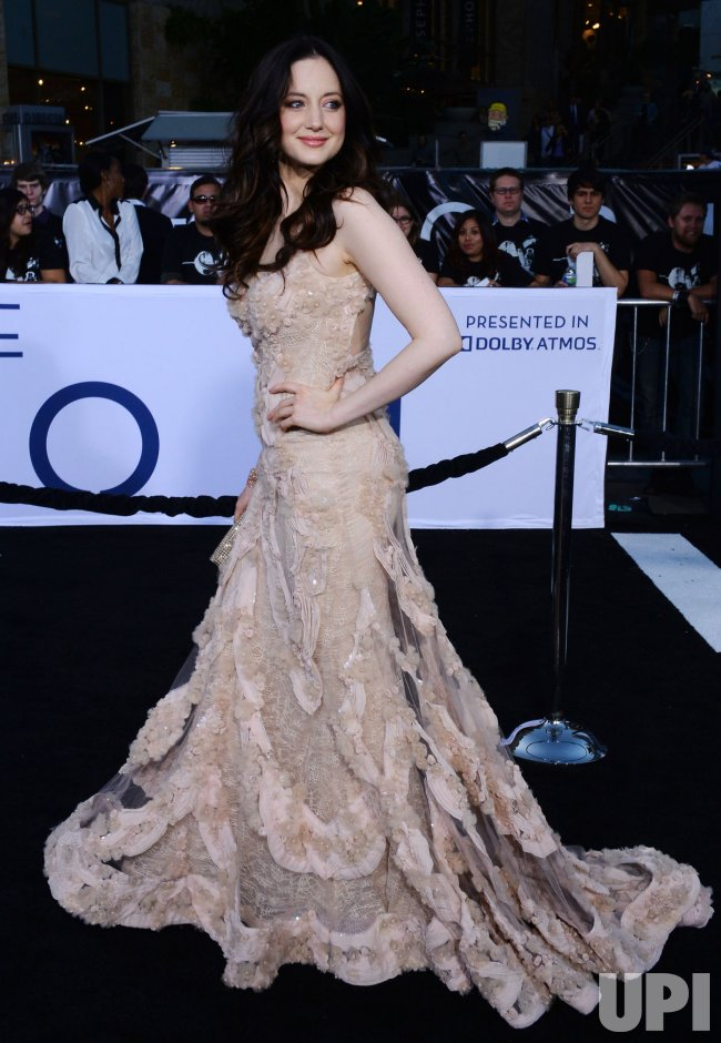 "Andrea Riseborough attends the ""Oblivion"" premiere in Los Angeles"