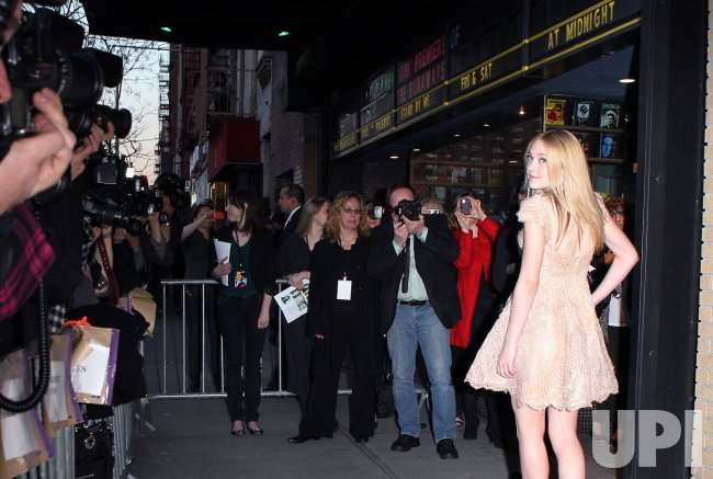 """Dakota Fanning arrives at the premiere of """"The Runaways"""" in new York"""