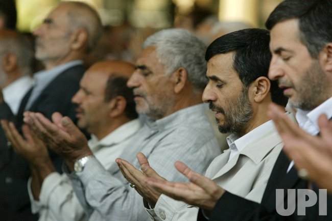 IRAN'S PRESIDENT MAHMOUD AHMADINEJAD ATTENDS IN WEEKLY FRIDAY PRAYER