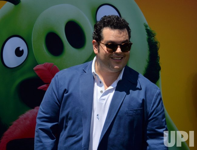 "Josh Gad attends ""The Angry Birds Movie 2"" premiere in Los Angeles."