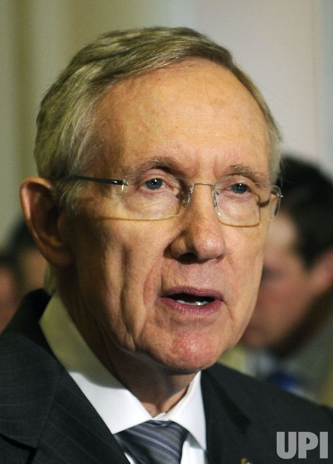 Senate Majority Leaders Harry Reid speaks in Washington