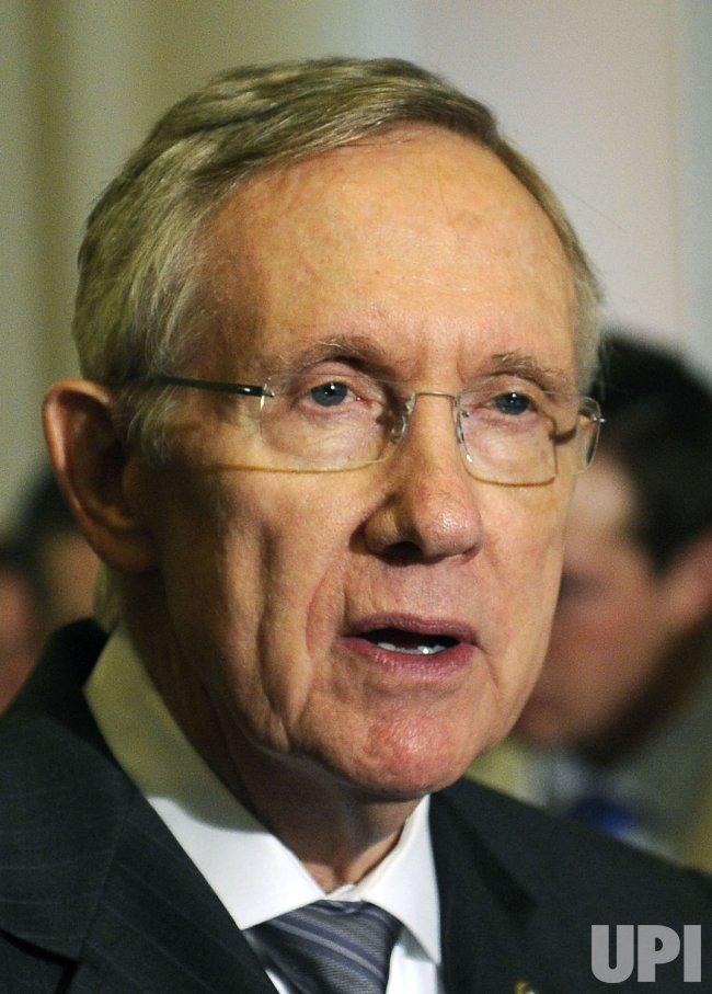 Senate Majority Leaders Harry Reid speaks in Washington