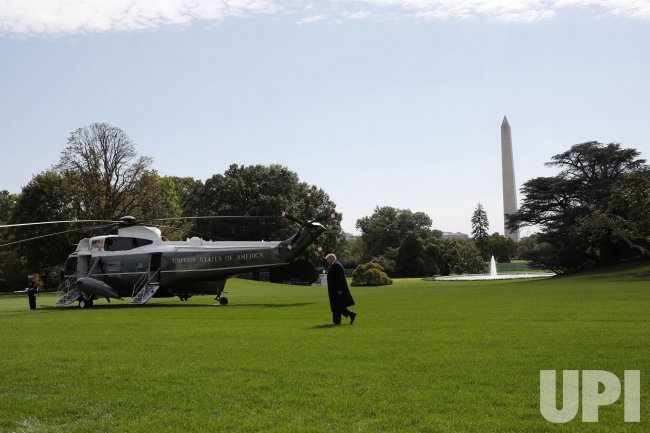 President Trump Departs to New Jersey from the White House