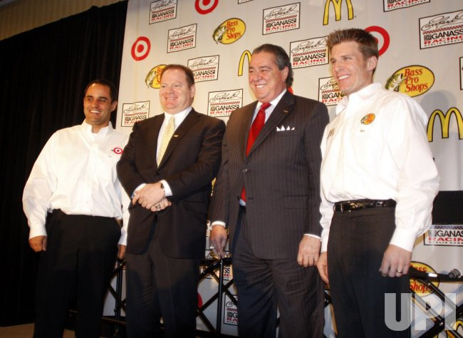 Chip Ganassi, Felix Sabates, Juan Pablo Montoya and Jamie McMurray at NASCAR media tour event in Charlotte, North Carolina