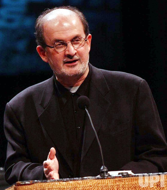 SALMAN RUSHDIE PERFORMS AT DOWNTOWN FOR DEMOCRACY FUNDRAISER