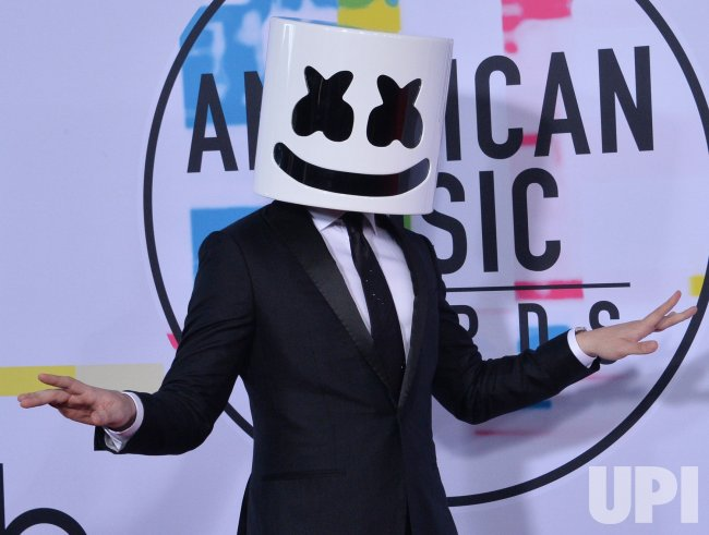Marshmello attends the annual 2017 American Music Awards in Los Angeles