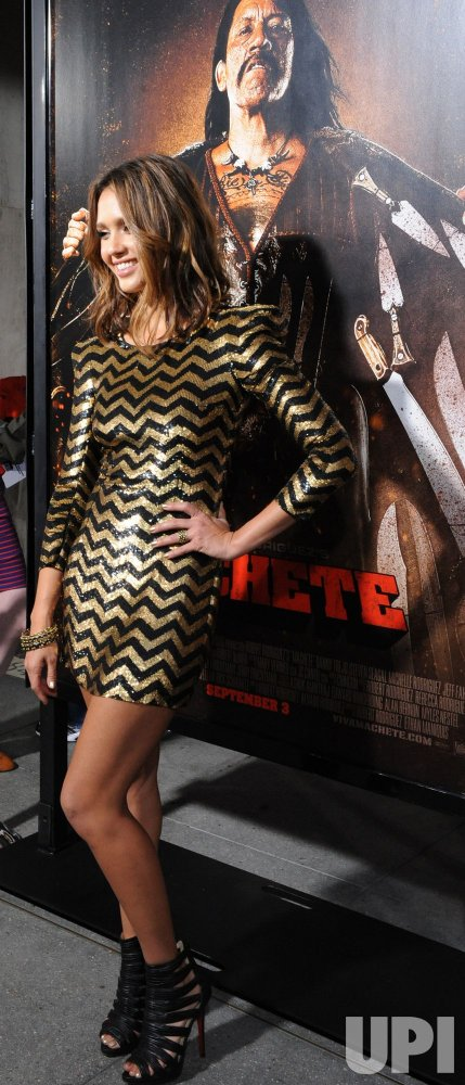 "Actress Jessica Alba attends the ""Machete"" premiere in Los Angeles"