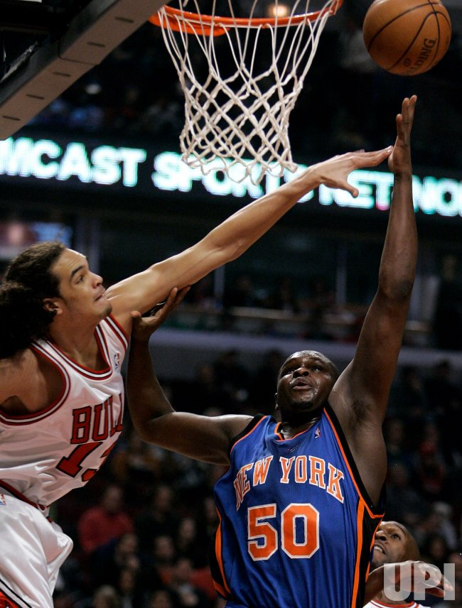 NBA Basketball New York Knicks vs Chicago Bulls in Chicago
