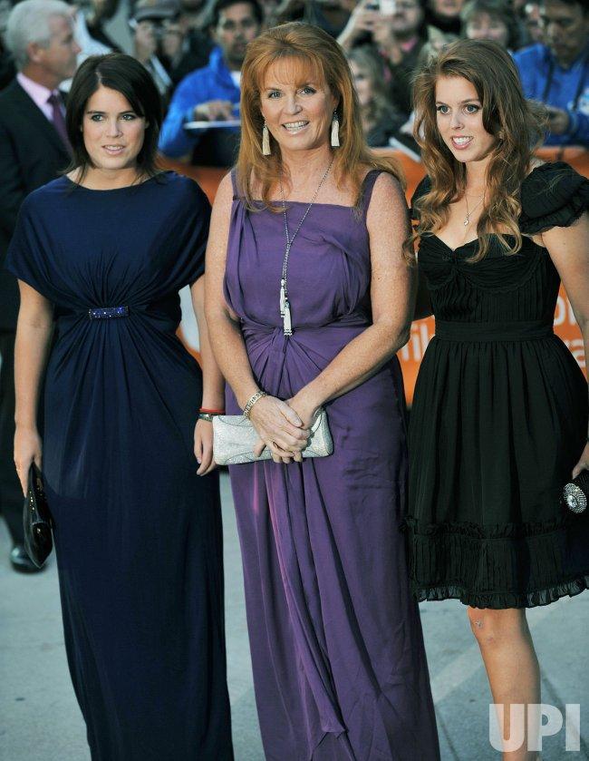 Sarah Ferguson and daughters attend Toronto International Film Festival
