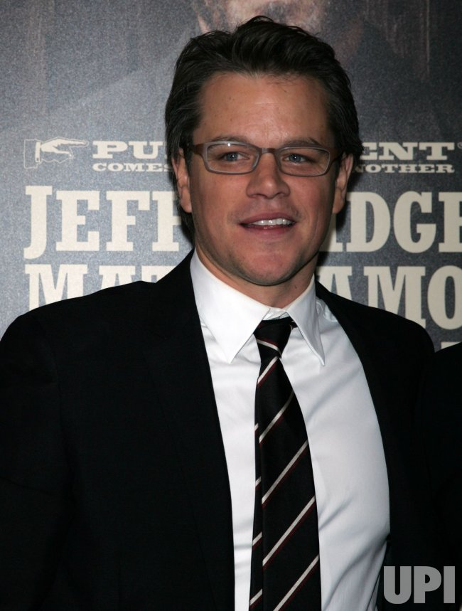 "Matt Damon arrives for the ""True Grit"" Premiere in New York"