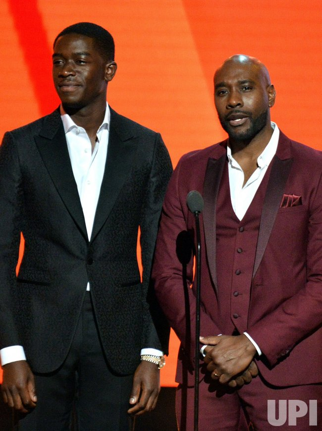 Damson Idris and Morris Chestnut onstage during the 19th annual BET Awards in Los Angeles