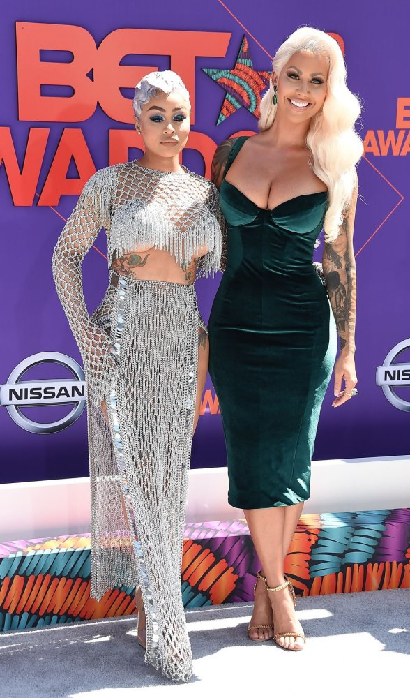 Blac Chyna and Amber Rose attend the 18th annual BET Awards in Los Angeles