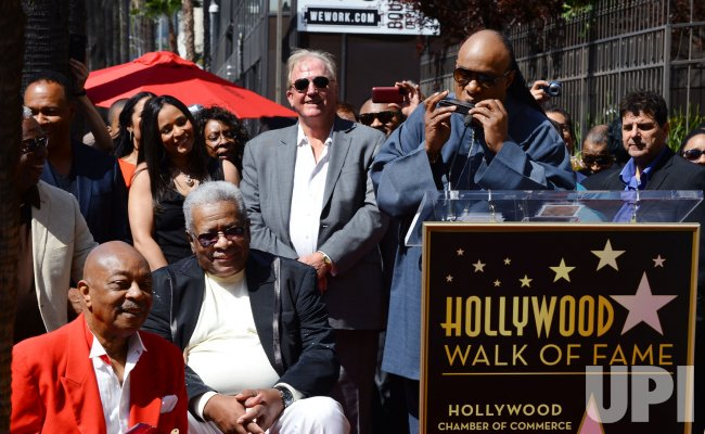 The Funk Brothers receive a star on the Hollywood Walk of Fame in Los Angeles