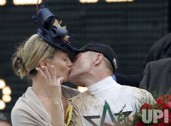 Calvin Borel Celebrates Kentucky Derby Win with Wife Lisa