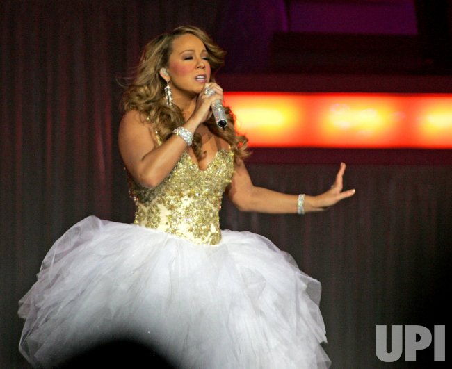 Mariah Carey performs in concert in Hollywood, Florida