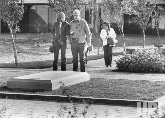 The gravesite of president and Mrs. Harry S. Truman