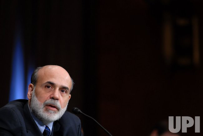 Chairman Bernanke testifies on Capitol Hill in Washington
