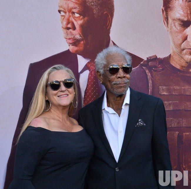 "Morgan Freeman and Lori McCreary attend ""Angel Has Fallen"" premiere in Los Angeles"
