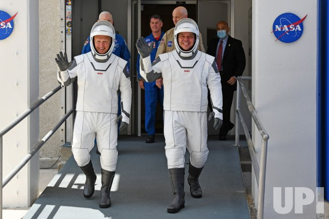 First NASA Crew Departs For Historic Launch from Space Center
