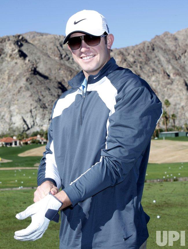 Evan Longoria arrives at the Bob Hope Classic Golf Pro-Am in La Quinta