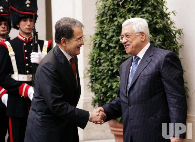 ITALIAN PM PRODI MEETS WITH PALESTINIAN PRESIDENT ABBAS IN ROME