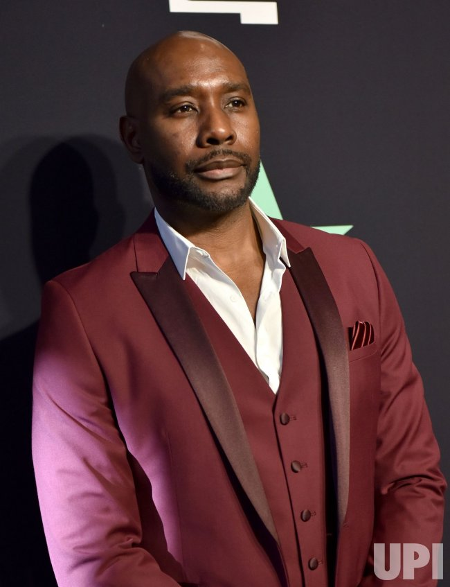 Morris Chestnut backstage at the BET Awards in Los Angeles