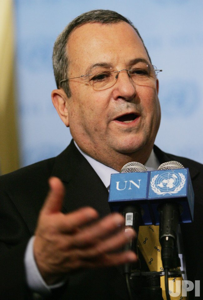 Israel's Deputy Prime Minister Barak visits United Nations in New York